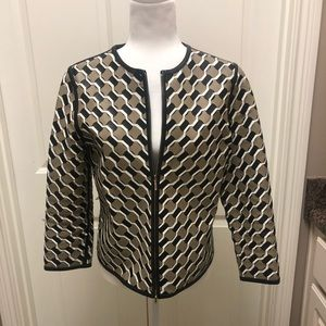 Exciting leather jacket by Escada with 3/4 sleeves